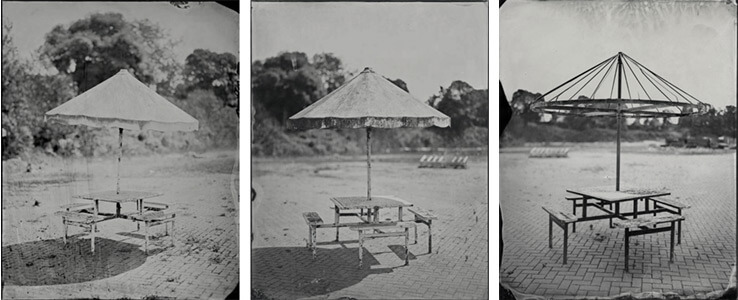 Rob Ball, Picnic Benches, from the series Dreamlands